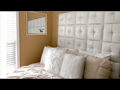 💕DIY Tufted Panel Headboard || New 2020 Glam Bedroom Decorating Ideas💕