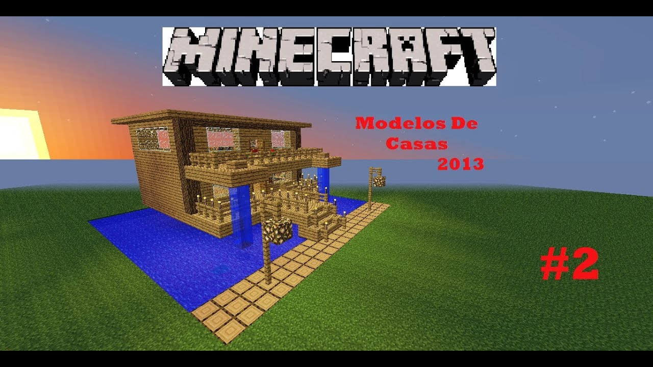 Minecraft modelos de casas 2013 casa rustica youtube for Casas minecraft planos