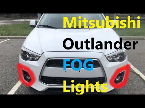 How to Replace FOG Lights BULBS on Mitsubishi Outlander 2010 2020