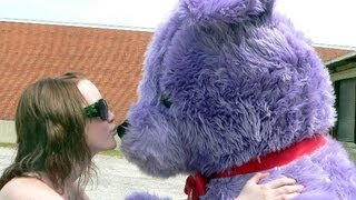 pure purple giant 6 feet tall teddy bear made in america big plush teddybear