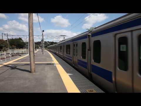 常磐線竜田駅始発列車発車, Joban Line Tatsuta Station deperaturing