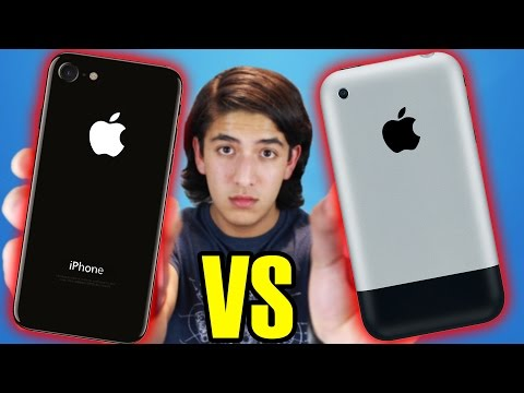 iPHONE 7 vs iPHONE 1 (2G) ¿QUÉ HA CAMBIADO?