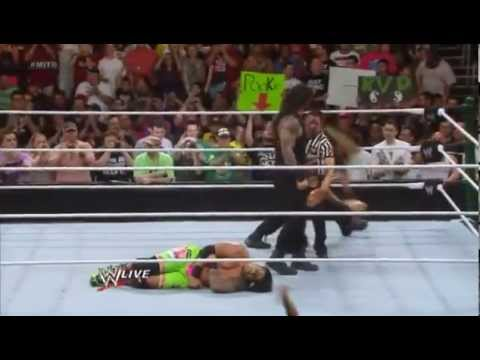 ?WWE Money In The Bank 2013 - Roman Reigns & Seth Rollins VS The Usos [Tag Team Match ] {Pre - Show}