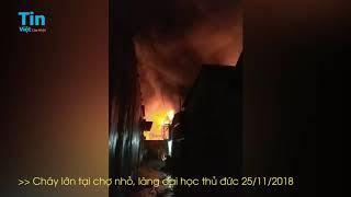 Cháy Lớn Tại Chợ Nhỏ ĐH Nông Lâm Trong Cơn Bão Số 9, Làng Đại Học Thủ Đức 25/11/2018