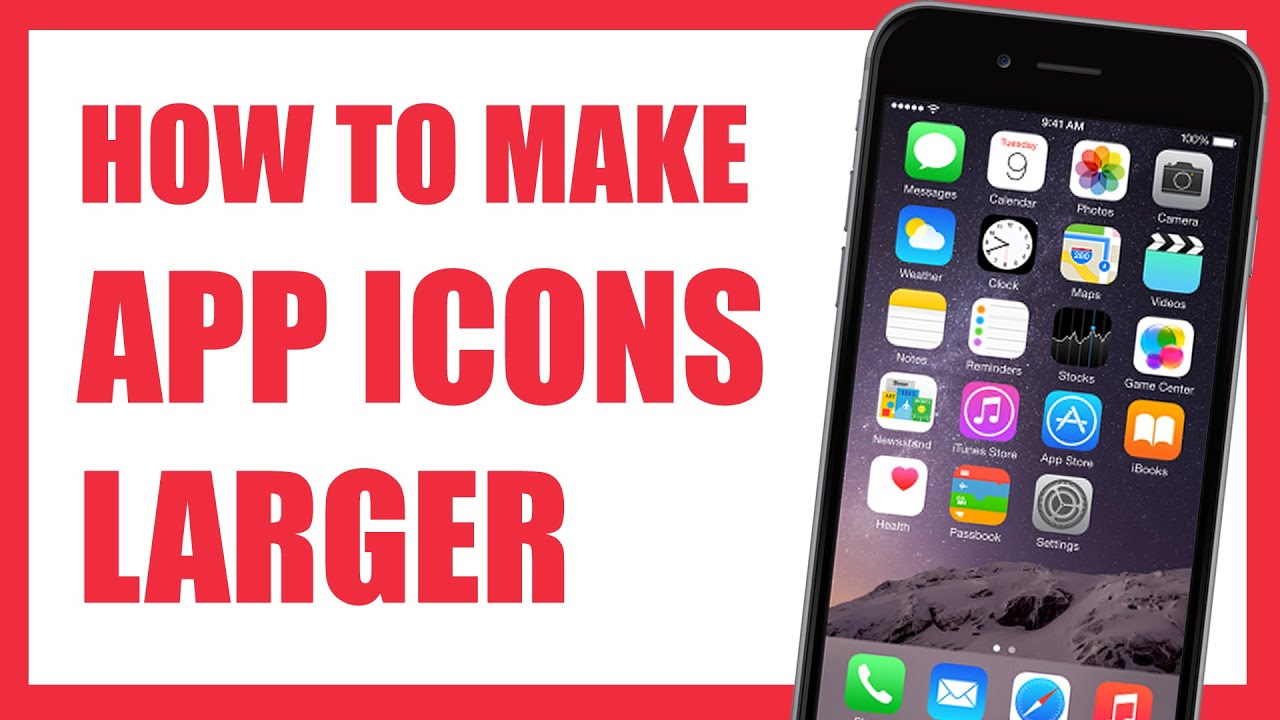 how to create an iphone app how to make app icons larger on iphone 6 with zoomed mode 18693