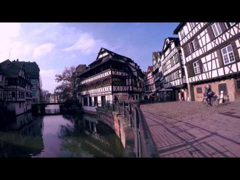 Strasbourg vue du ciel - Strasbourg in Purple