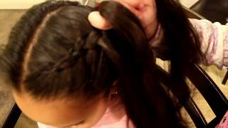 How to make a DUTCH BRAID. Simple and easy hairstyle for kids to do!