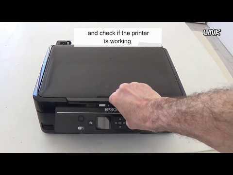 Epson Inkjet Printer, all Lights blinking - How to fix it