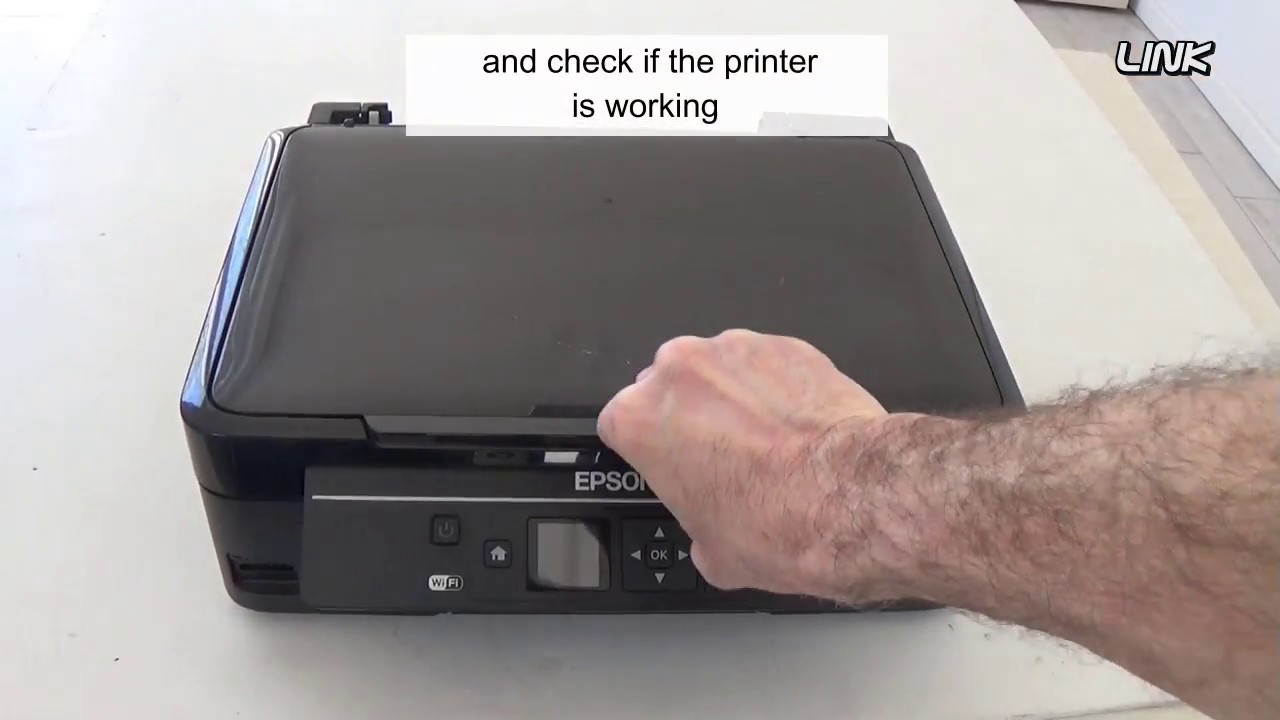 Epson Inkjet Printer, all Lights blinking - How to fix it