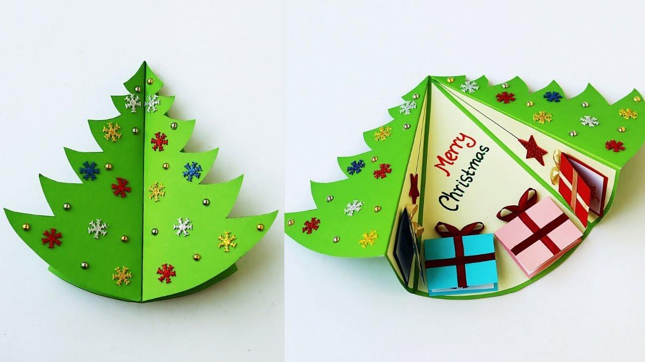 diy christmas pop up card  how to make christmas greeting
