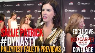 Sallie Patrick interviewed at The CW series 'Dynasty' preview at PaleyFest