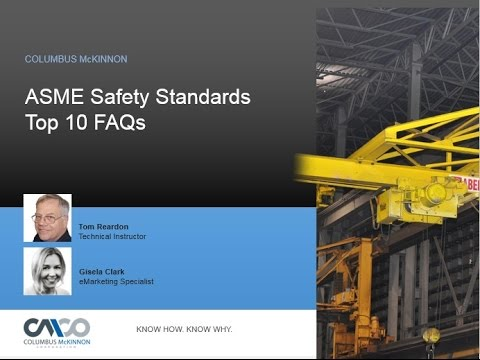 Safety Webinar: ASME Safety Standards Top 10 FAQs
