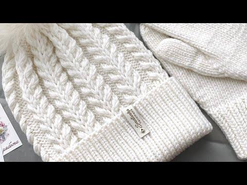 Вязание спицами для женщин шапки новинки с описанием