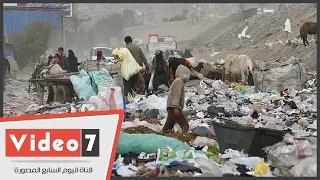 القمامة تهدد الطريق الدائرى بالجيزة والروائح الكريهة تحاصر الأهالى