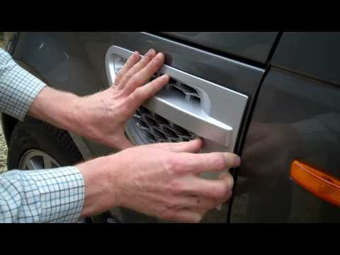How To Fit The 2010 Replica Side Vents For The Range Rover Sport