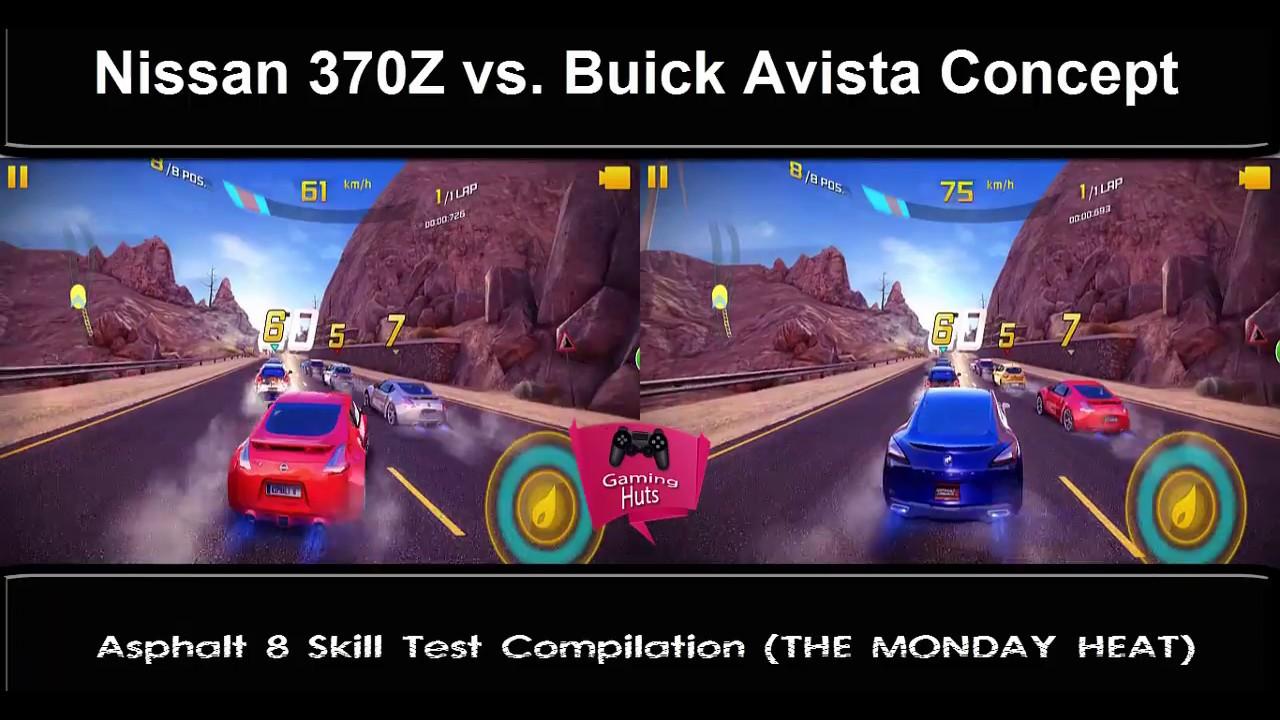 Asphalt 8 Nissan 370Z vs. Buick Avista Concept (Speed and ...