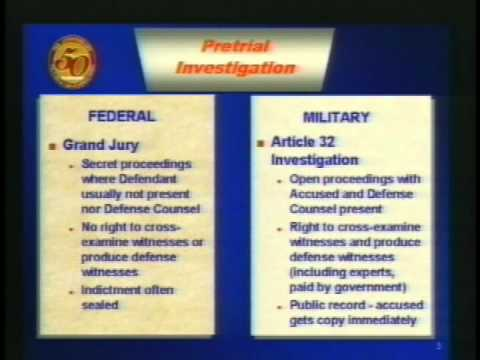 an overview of the uniform code of military justice The uniform code of military justice the word uniform in the code's title refers to the congressional intent to make military justice uniform or overview.