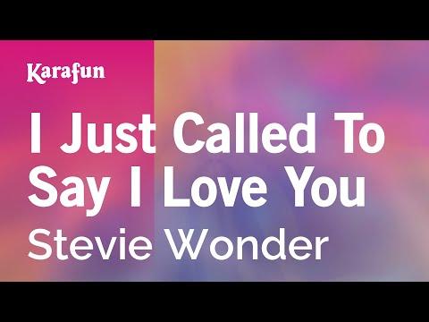 Karaoke I Just Called To Say I Love You Stevie Wonder Youtube