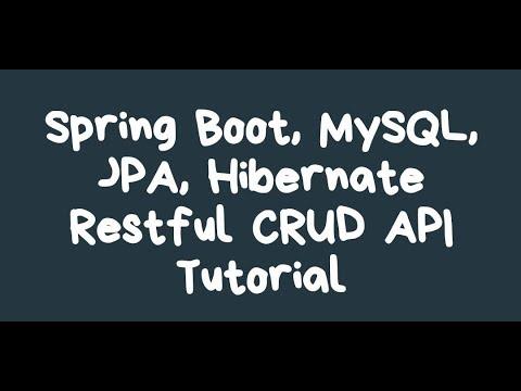 spring-boot- -restful-api- -jpa- -hibernate- -mysql-crud-tutorial