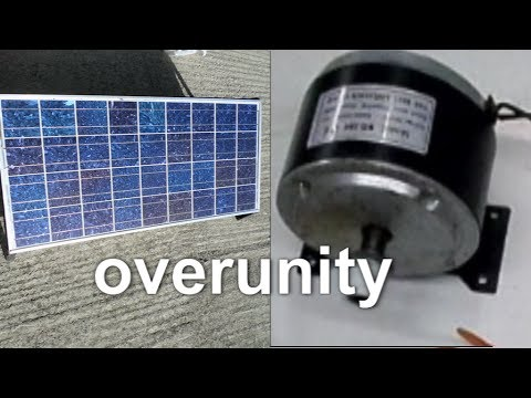 Overunity ? - 18v 48w solar cell  to 280 w motor