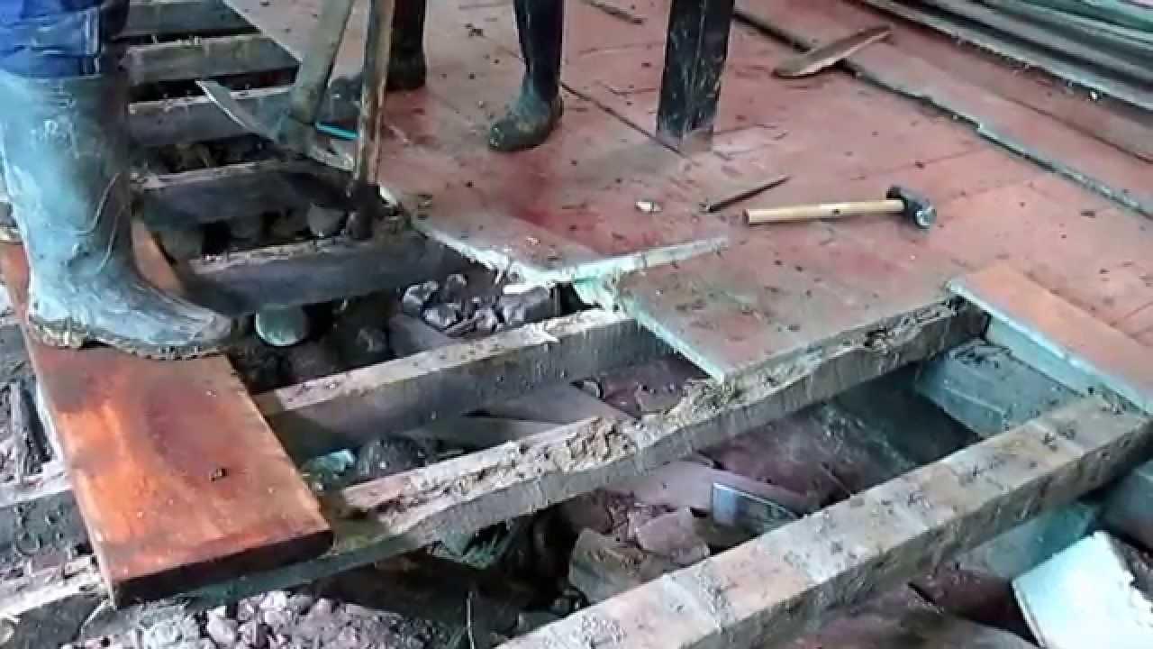 Desmonte piso madera youtube - Como rejuvenecer un piso antiguo ...