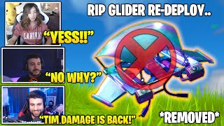 Top STREAMERS Reacts To GLIDER Re-Deploy REMOVED.. (Fortnite FUNNY & Daily Best Moments)