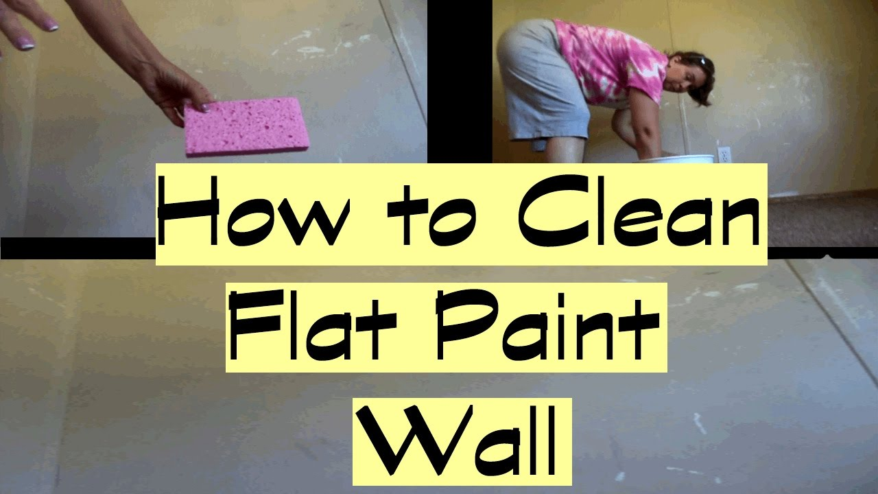 How to Clean Flat Paint Walls