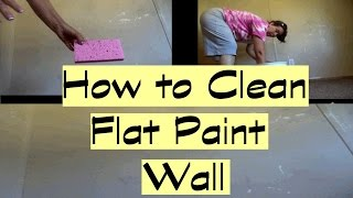 How Clean Flat Paint Walls
