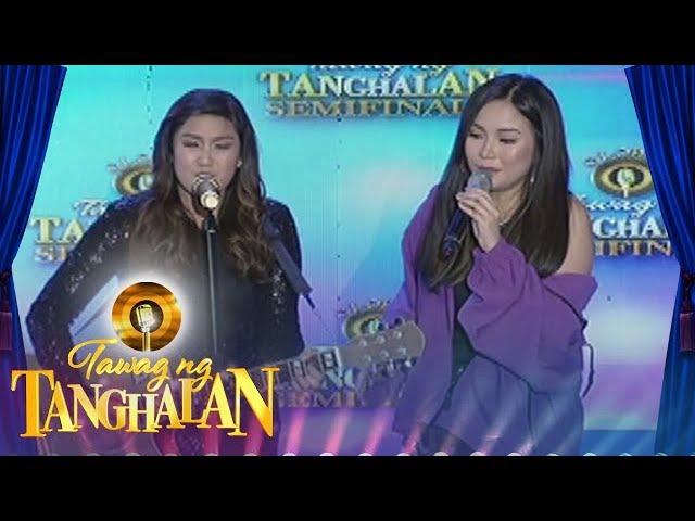 "Tawag ng Tanghalan: Louise Auman sings ""Hawak Kamay"" with her idol Yeng Constantino"