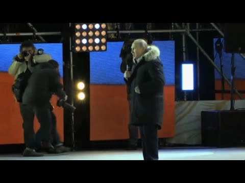 Putin thanks supporters for election victory