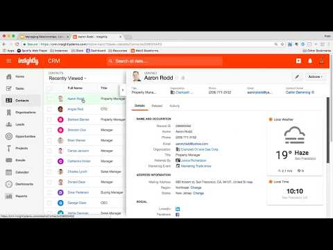 Webinar   Using Contacts & Emails In Insightly