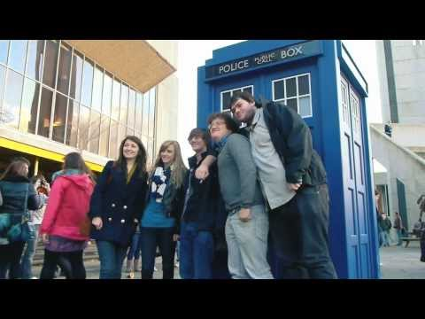 The TARDIS lands in Aberystwyth!