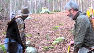 Shooting with Primitive Archer in the Forrest