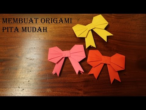 Cara buat origami pita cantik melipat pita dengan origami
