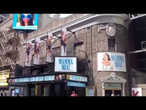 A View of Broadhurst Theatre Now Playing Mamma Mia! on West 44th Street, New York City, New York