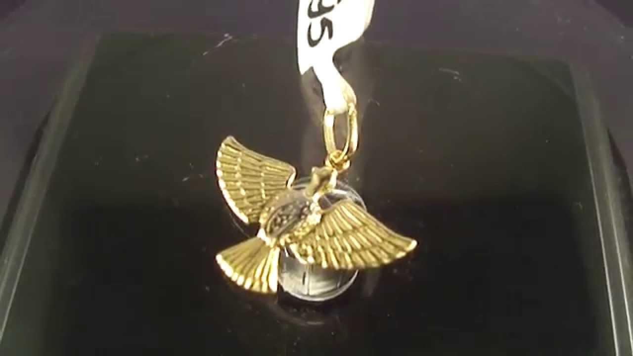 Pingente de Ouro 18k Imagem do Divino Espírito Santo - YouTube 2971a6353d