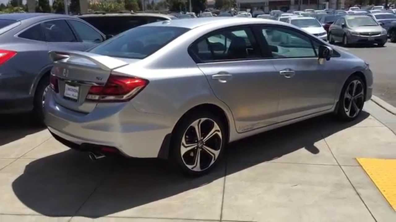 2015 Honda Civic si sedan navigation walk around - YouTube