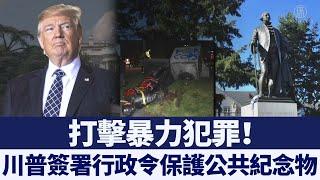 打擊暴力犯罪 保護紀念物 川普簽署行政令 @新唐人亞太電視台NTDAPTV  20200629