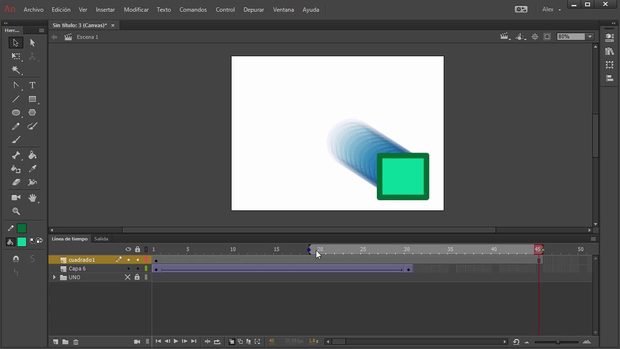 La línea de tiempo en Adobe Animate CC