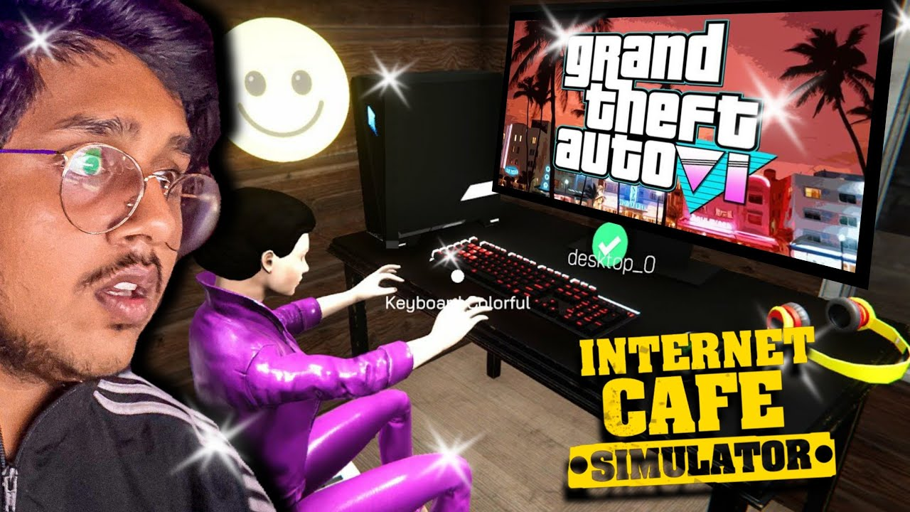 Playing NEW GTA 6 in INTERNET CAFE SIMULATOR