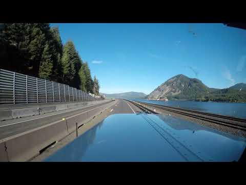 I-84 West in Oregon at hyper speed.