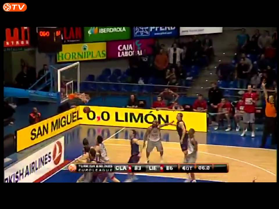 Khalid El-Amin amazing shot for the win! BC Lietuvos Rytas