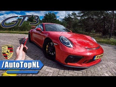 2017 Porsche 911 GT3 REVIEW POV Test Drive AUTOBAHN & FOREST ROADS by AutoTopNL
