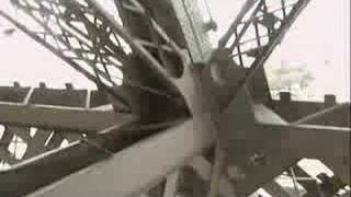 Eiffel Tower elevator ride all the way up