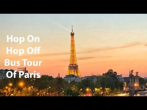 Eiffel Tower At Night | Live Paris Bus Tour