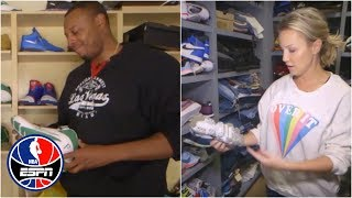 Michelle Beadle and Paul Pierce show off shoe collections | NBA Countdown