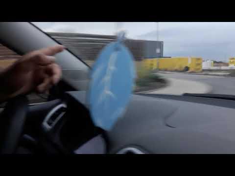 Чехия.Вечер.Едем на машине с работы.Стройка.Чешские села.Состояние дорог.Соблюдаем скоростной режим.