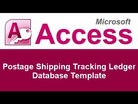 Microsoft Access Postage Shipping Tracking Ledger Database Template