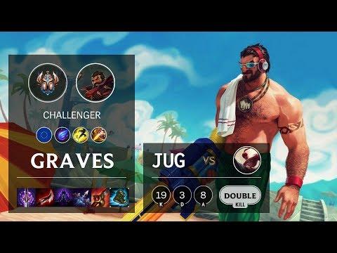 Graves Jungle vs Lee Sin - EUW Challenger Patch 10.10