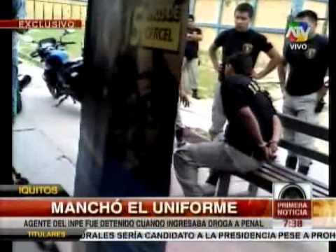 Agente del INPE fue detenido cuando ingresaba droga al penal